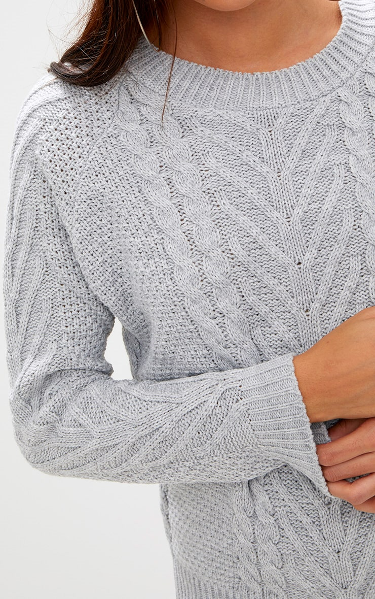 Grey Cable Knit Jumper 5
