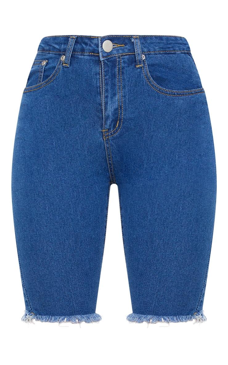 Dark Blue Denim Cycling Shorts 3
