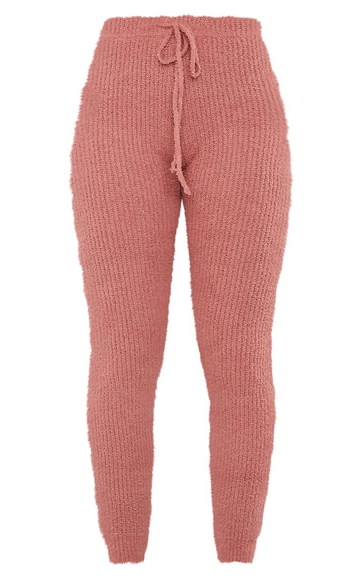 Rose Chenille Ribbed Tie Waist Leggings 5