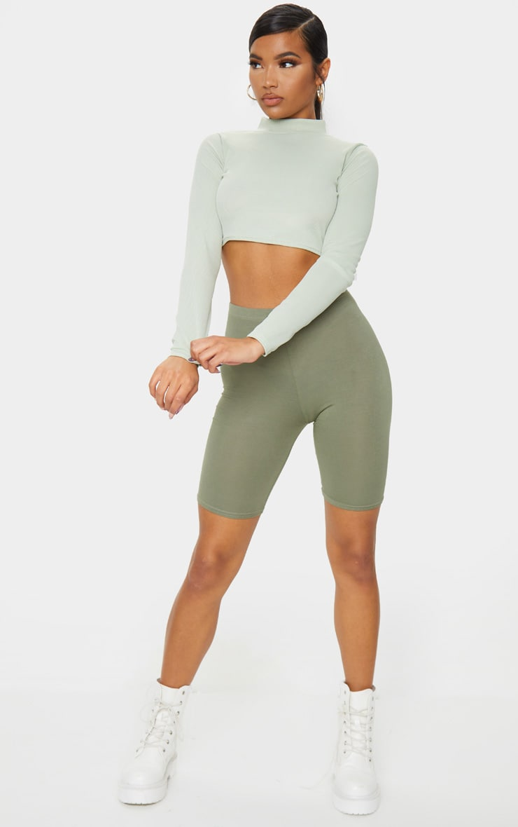 Pale Khaki Basic Cycle Short 4
