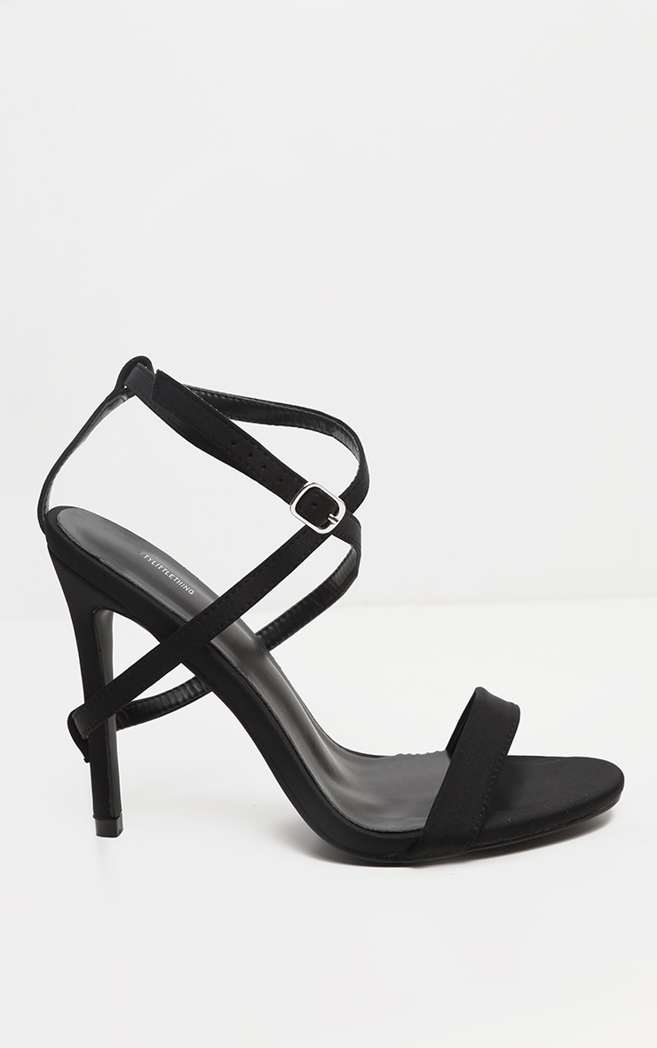 Black Strap Heel Detailed Sandal 3
