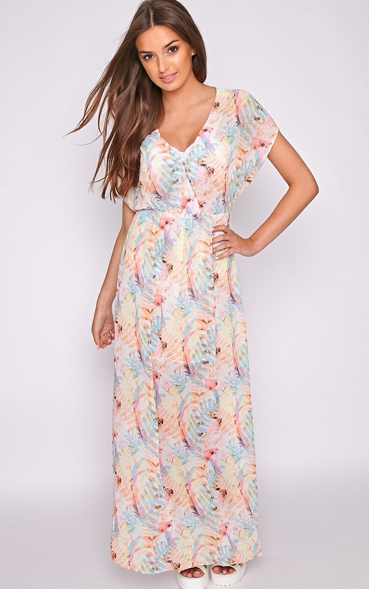 Harlow Tropical Leaf Maxi Dress 1