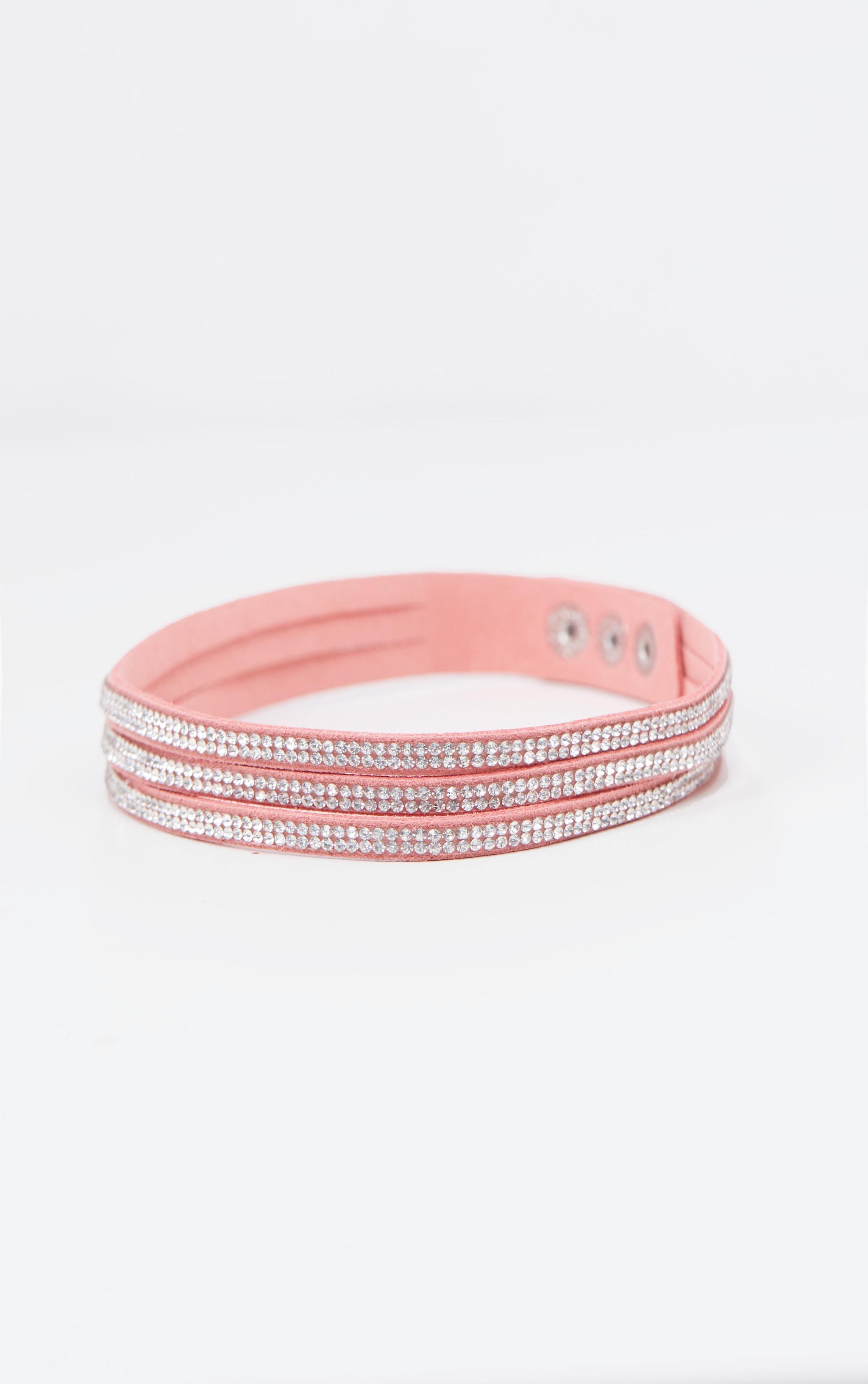 Pink Diamante Choker 2