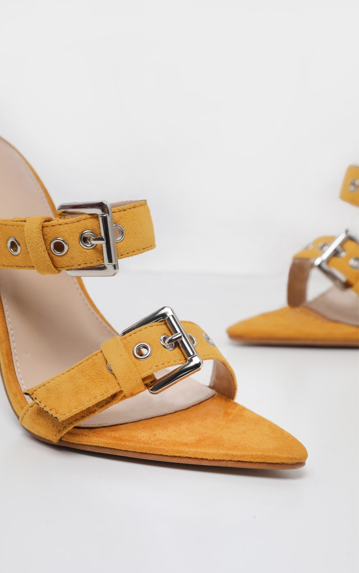 Mustard Point Toe Triple Strap Sandal 4