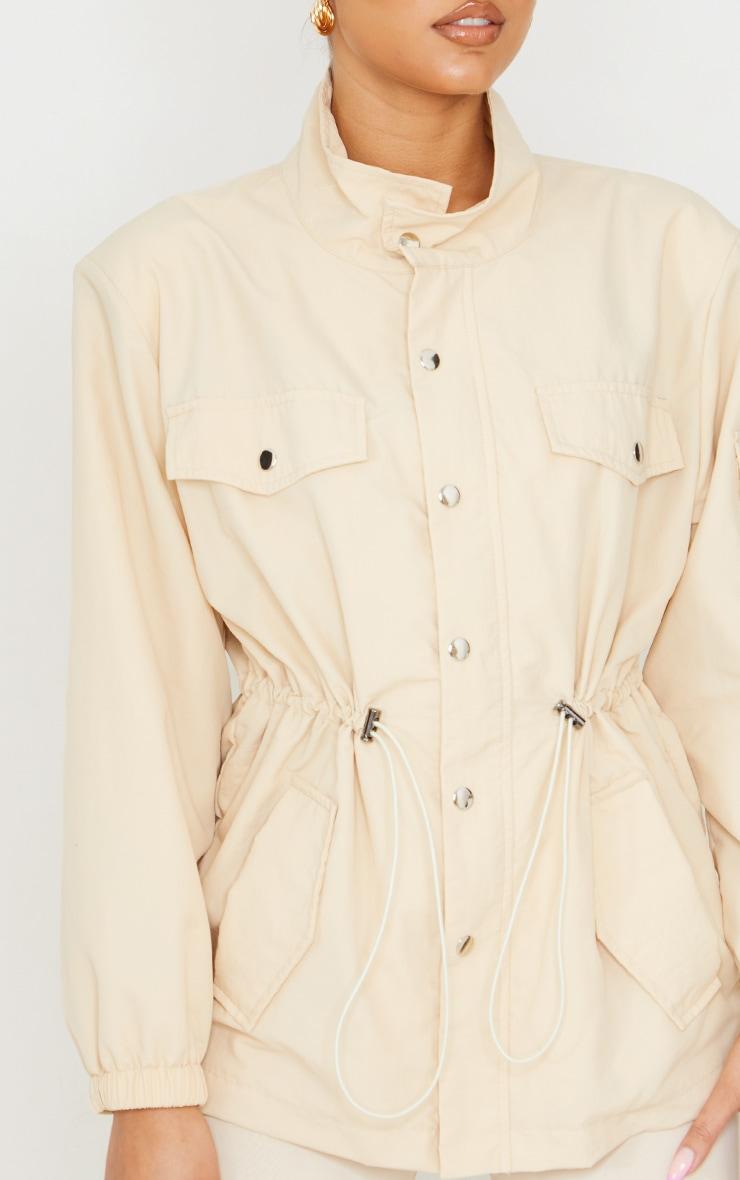 Stone Shoulder Padded Toggle Waist Jacket 4