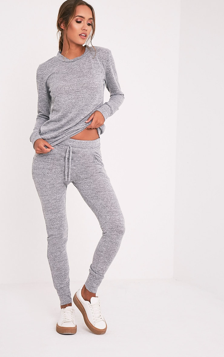 Haree Grey Casual Tracksuit Bottoms 1