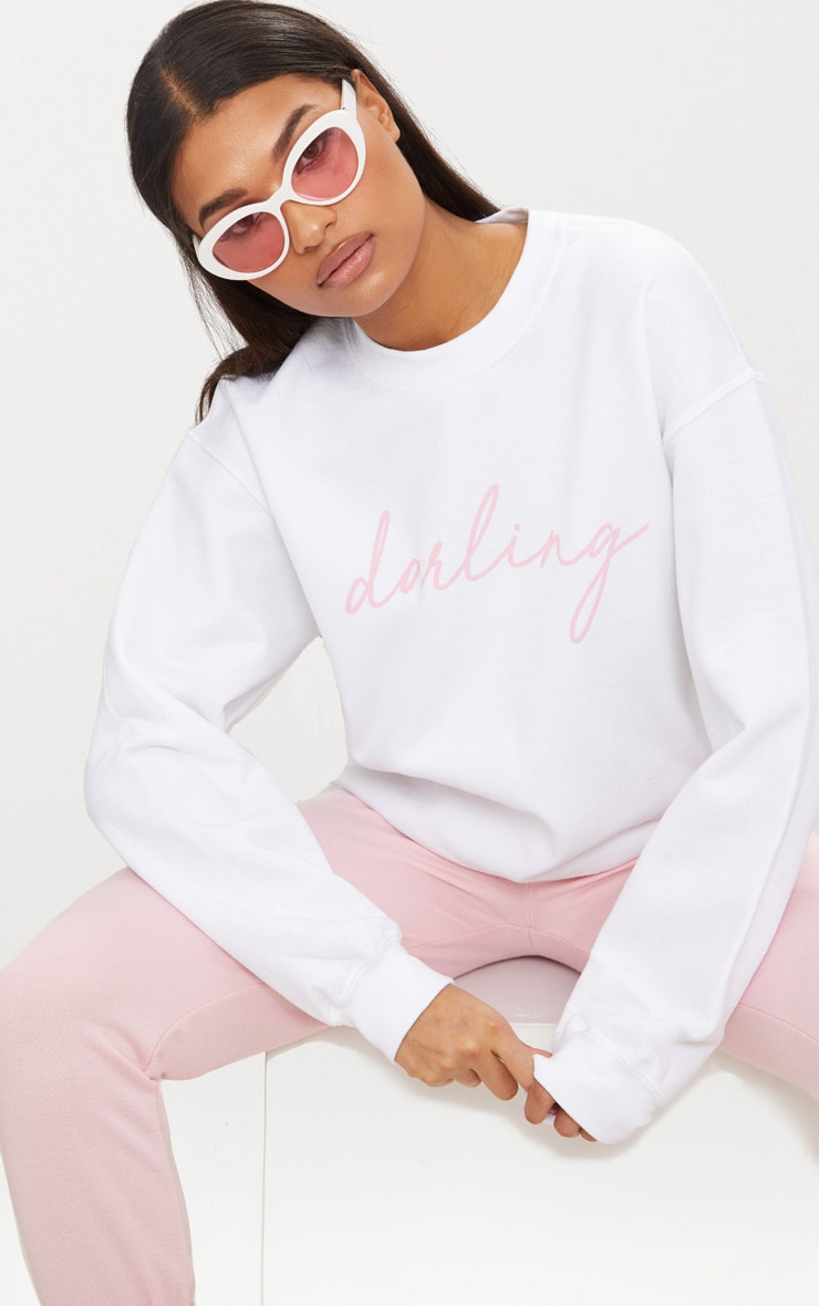 Sweat oversized blanc Darling 1