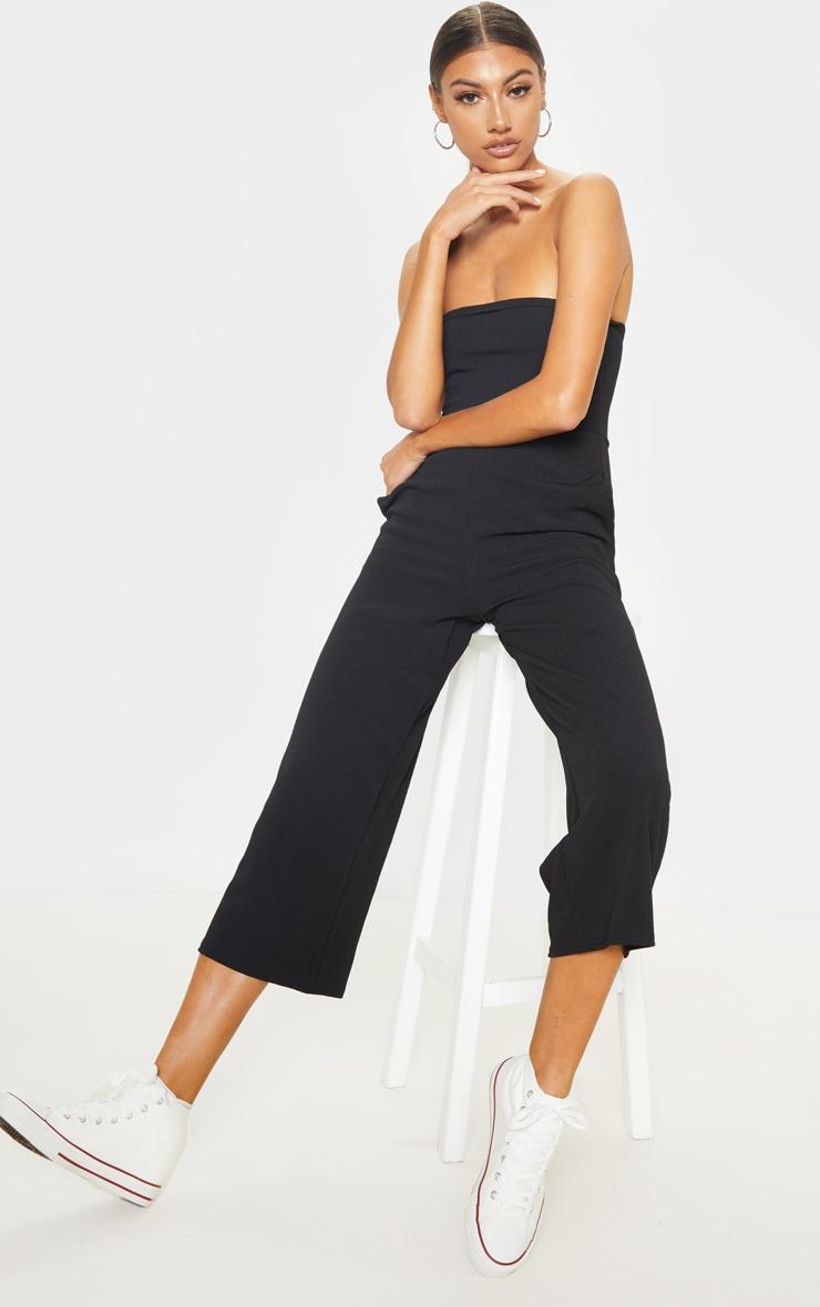 Tall Black Bandeau Culotte Jumpsuit 1