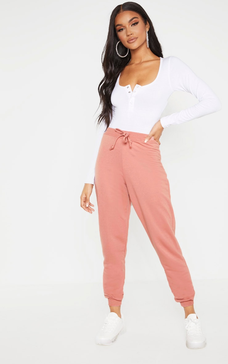 Dusty Rose Ultimate Marl Sweat Joggers  1