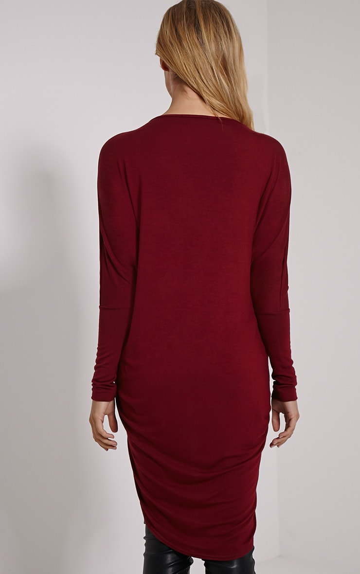 Chastity Wine Long Twist Front Top 2