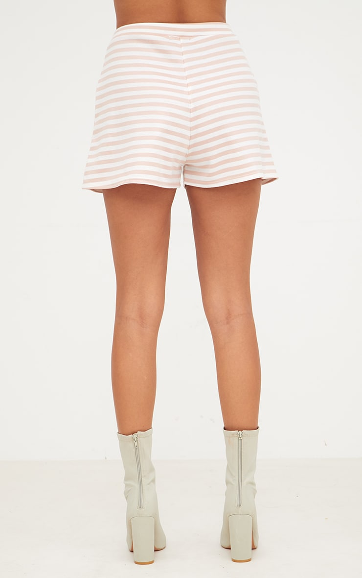 Nude Scuba Stripe Shorts 4