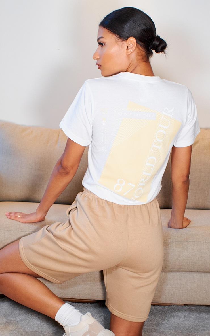 White Slogan World Tour T Shirt 2