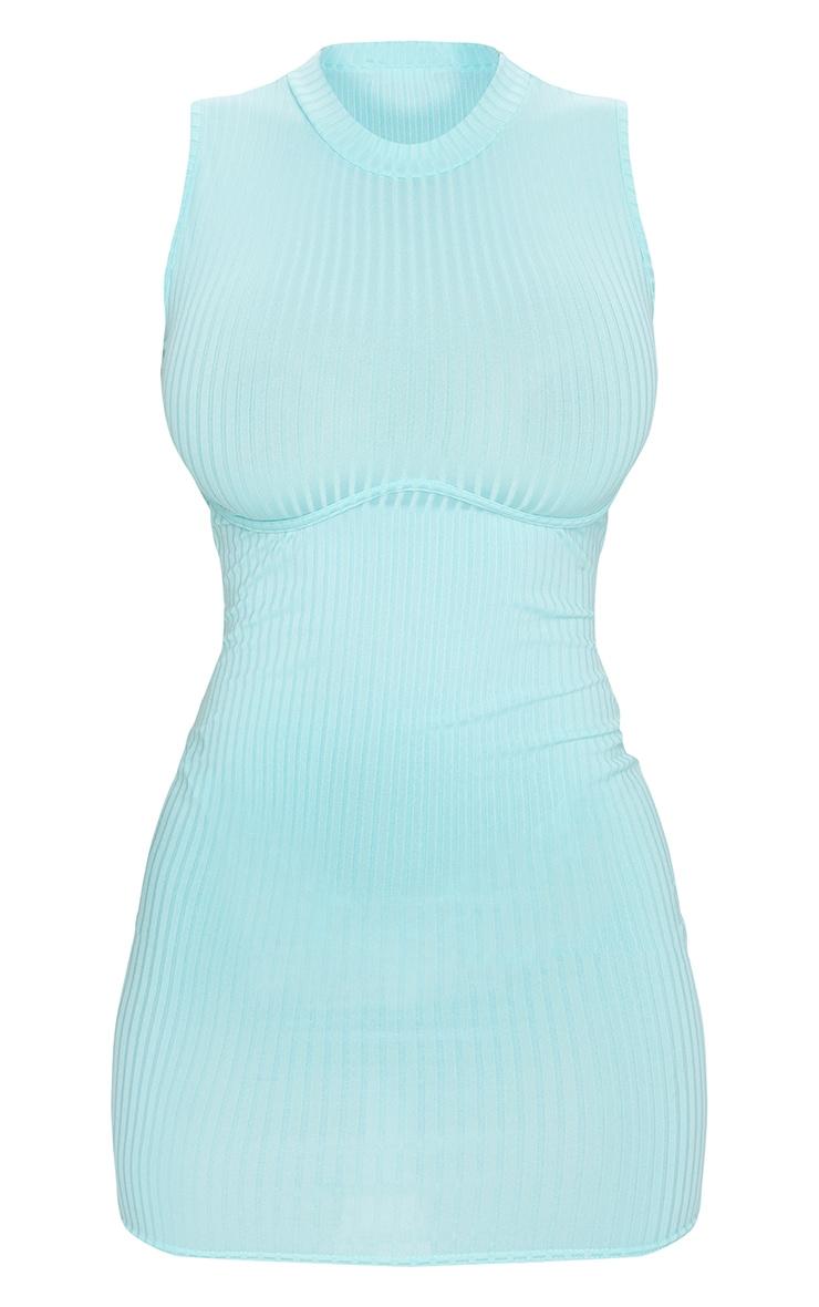 Shape Mint Rib Underbust Detail Bodycon Dress 5
