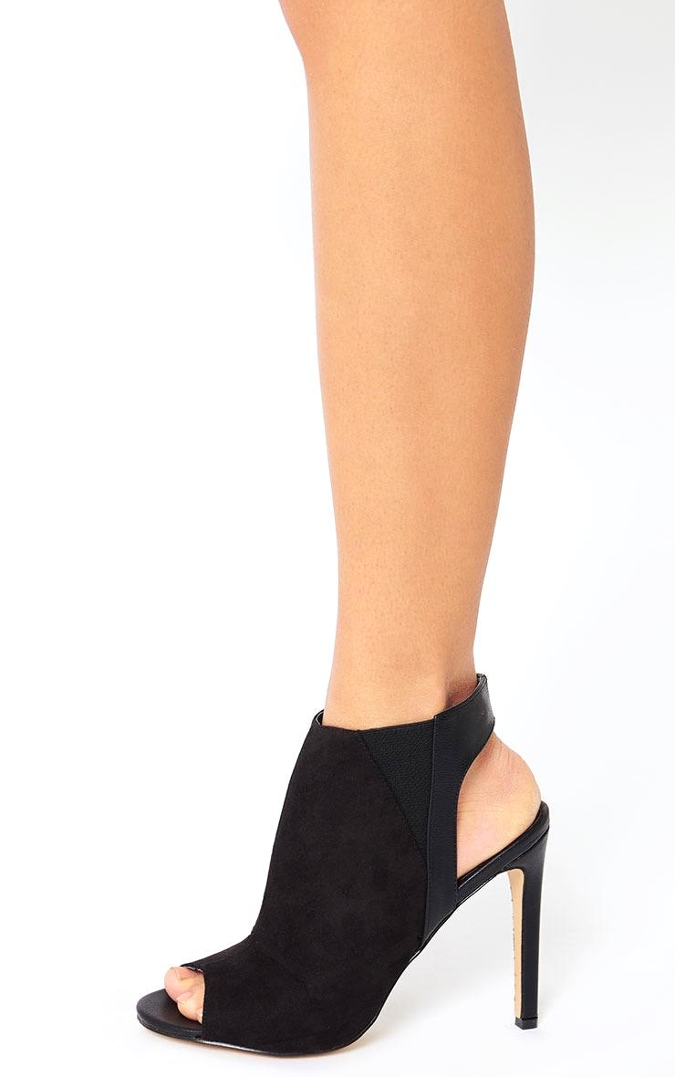 Raeanne Black Open Heel Shoes 2