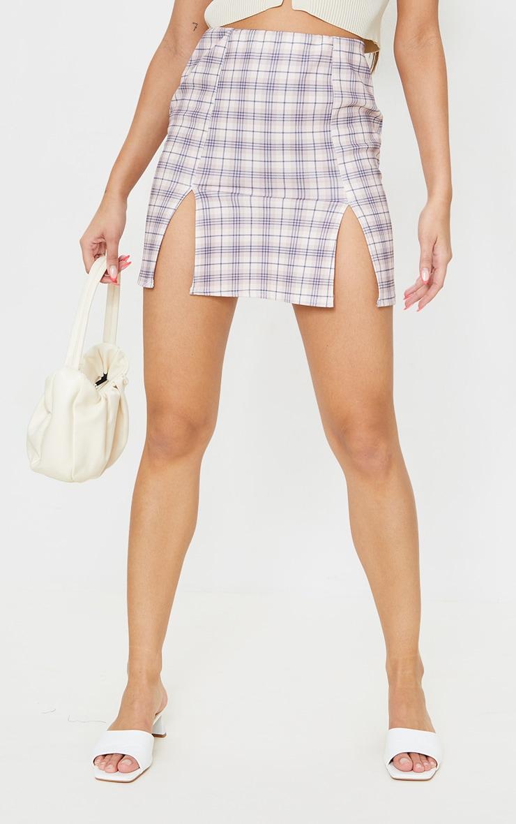 Stone Check A Line Skirt 2