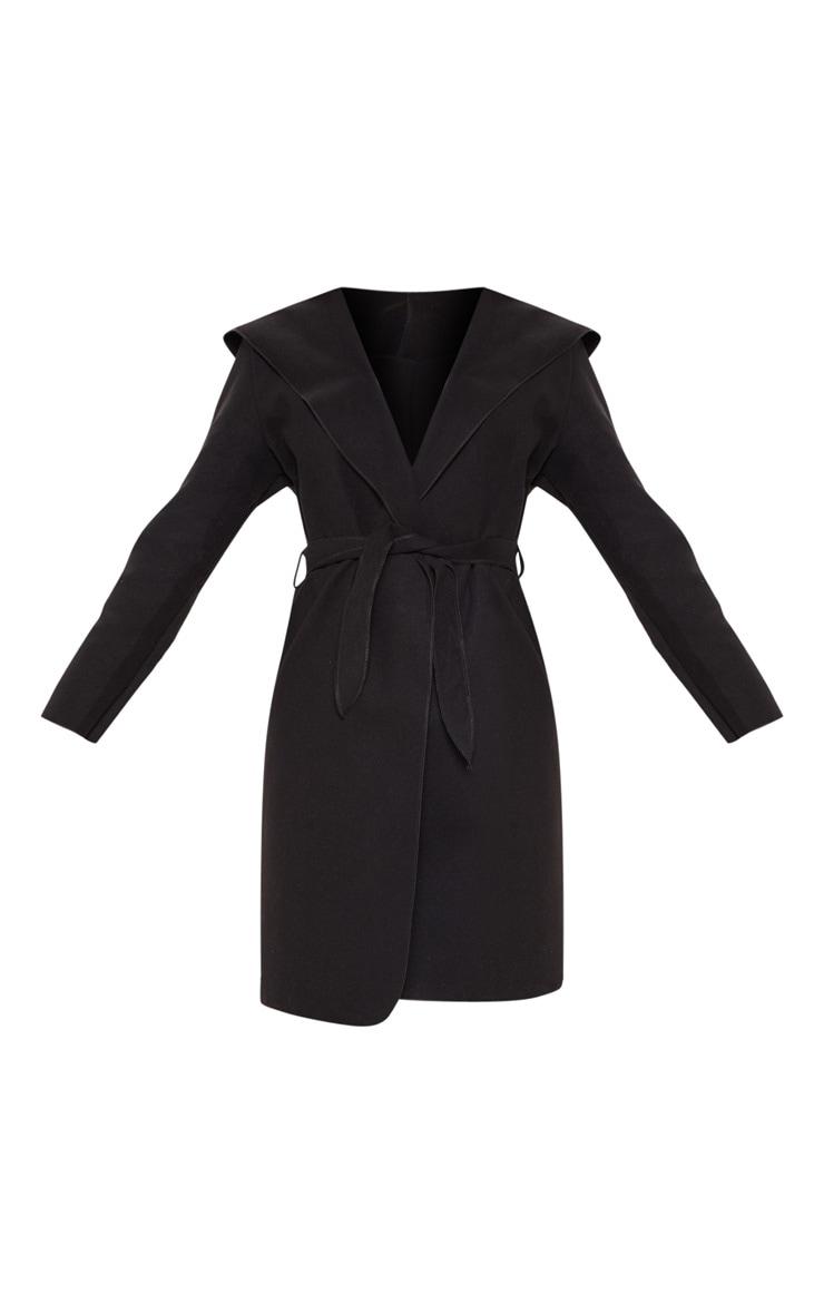 Black Waterfall Hooded Coat 3