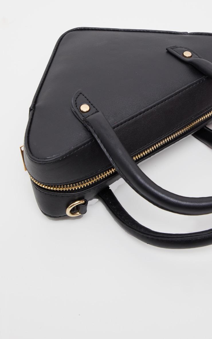 Black Triangle Shape Grab Bag  2