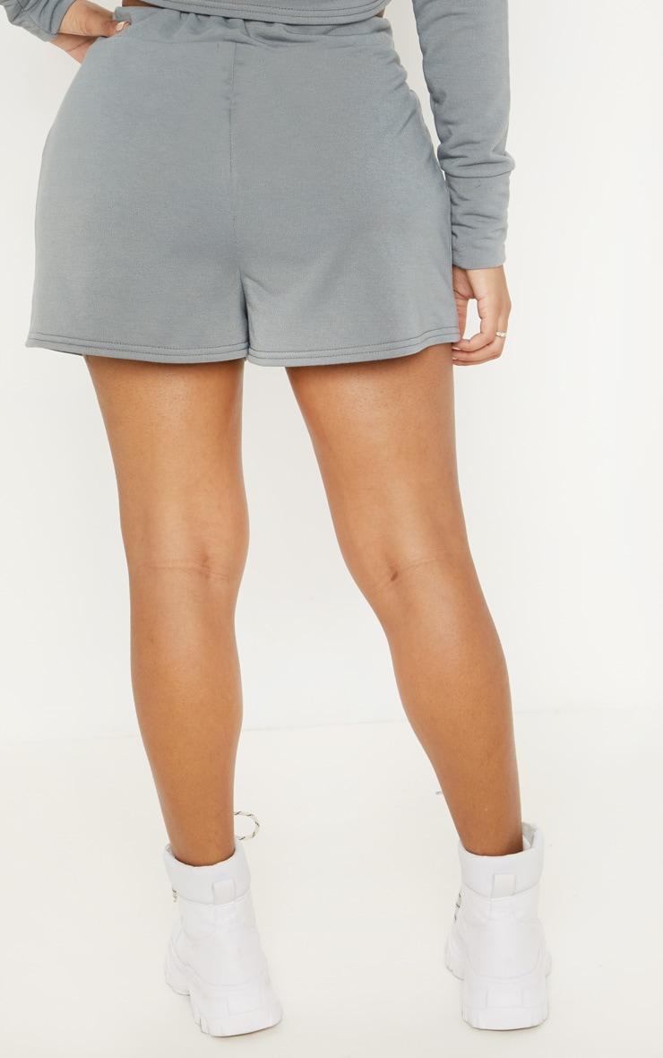 Shape Grey Marl Sweat Drawstring Shorts 2