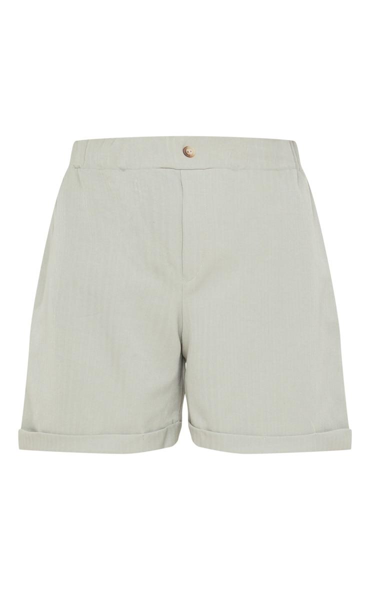 Sage Khaki Turn Up Hem Tailored Short 3