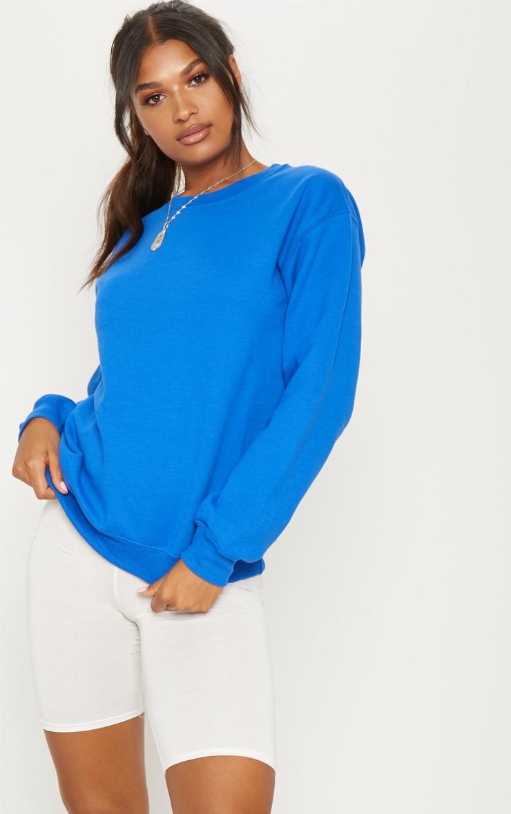 Sweat oversize bleu flashy classique 4