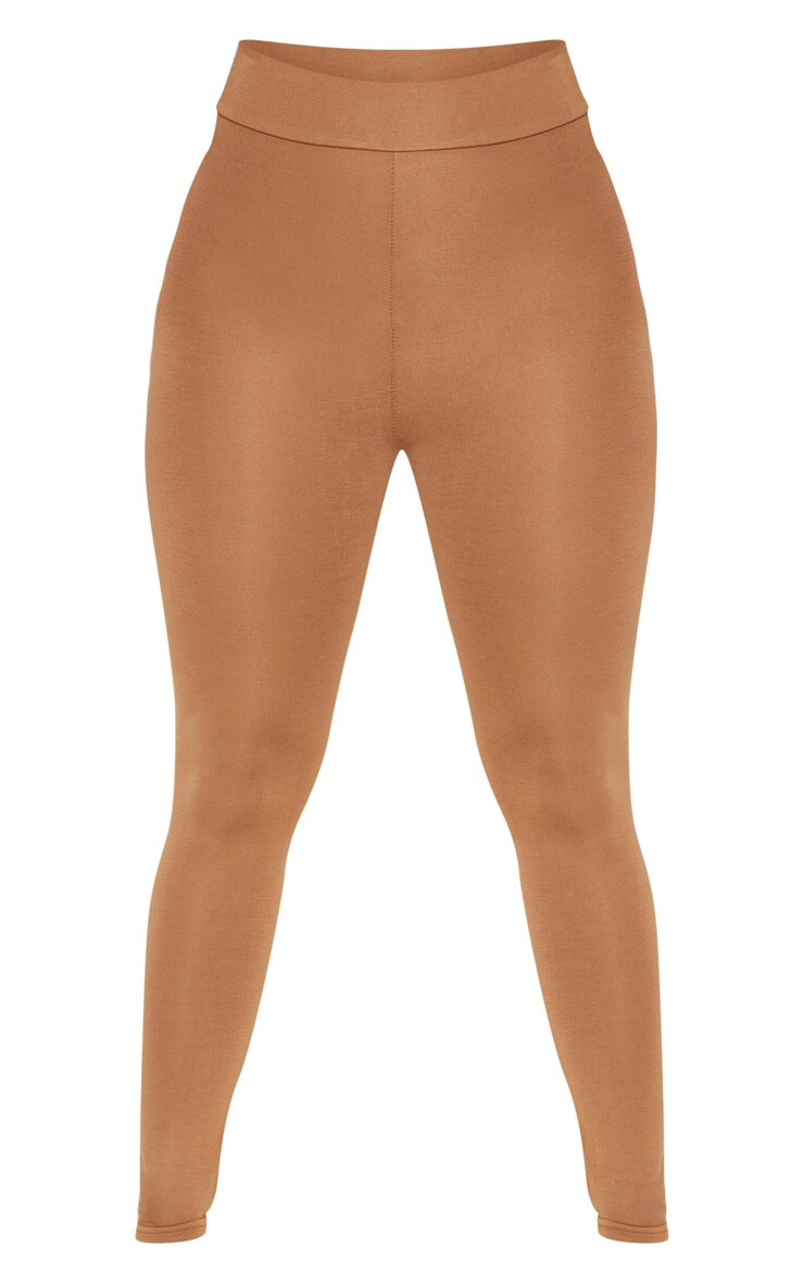 Dabria Camel High Waisted Jersey Leggings 3