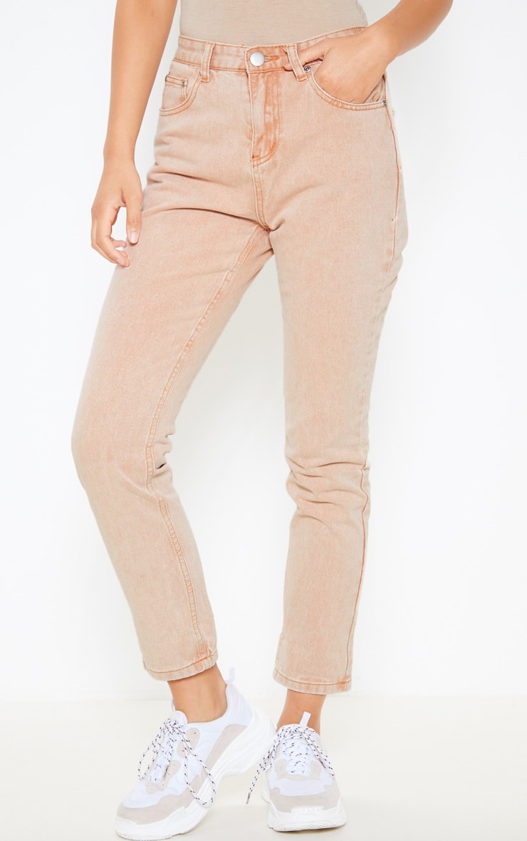 Washed Stone Straight Leg Jean 2