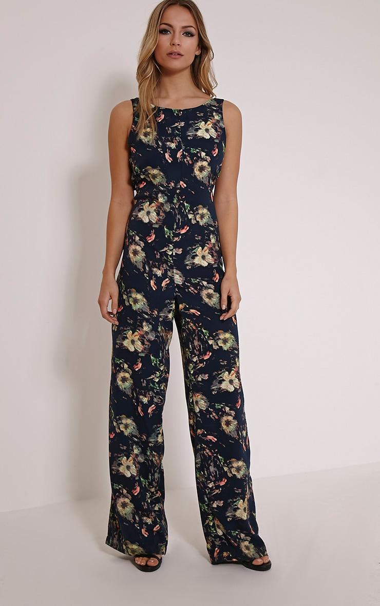 Loucina Black Floral Jumpsuit 1