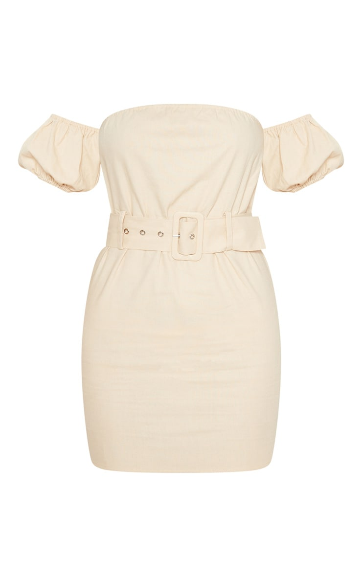 Stone Belt Detail Bardot Shift Dress 3