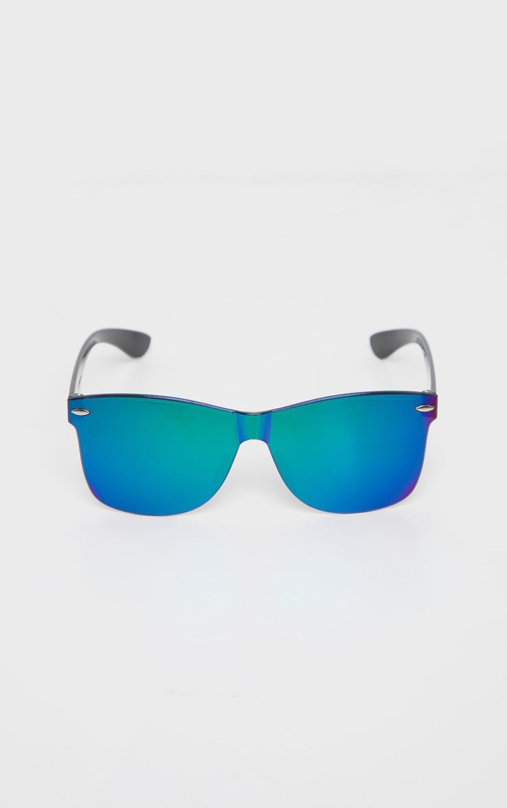 Green Rimless Revo Wayfarer Sunglasses 2