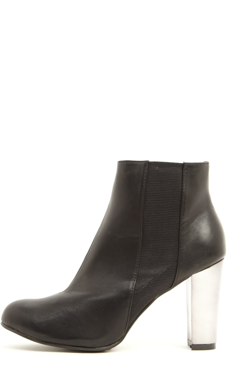 Alexa Black Pu Leather Chelsea Boots 1
