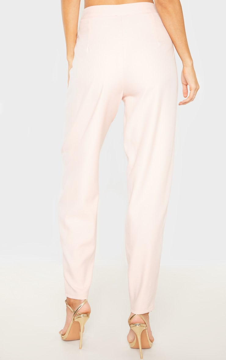 Tall Dusty Pink Wide Leg Slim Cuff Suit Pants 4