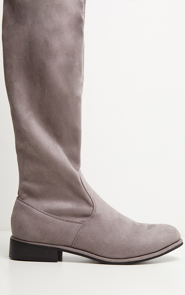 Grey Flat Over The Knee Boot 4