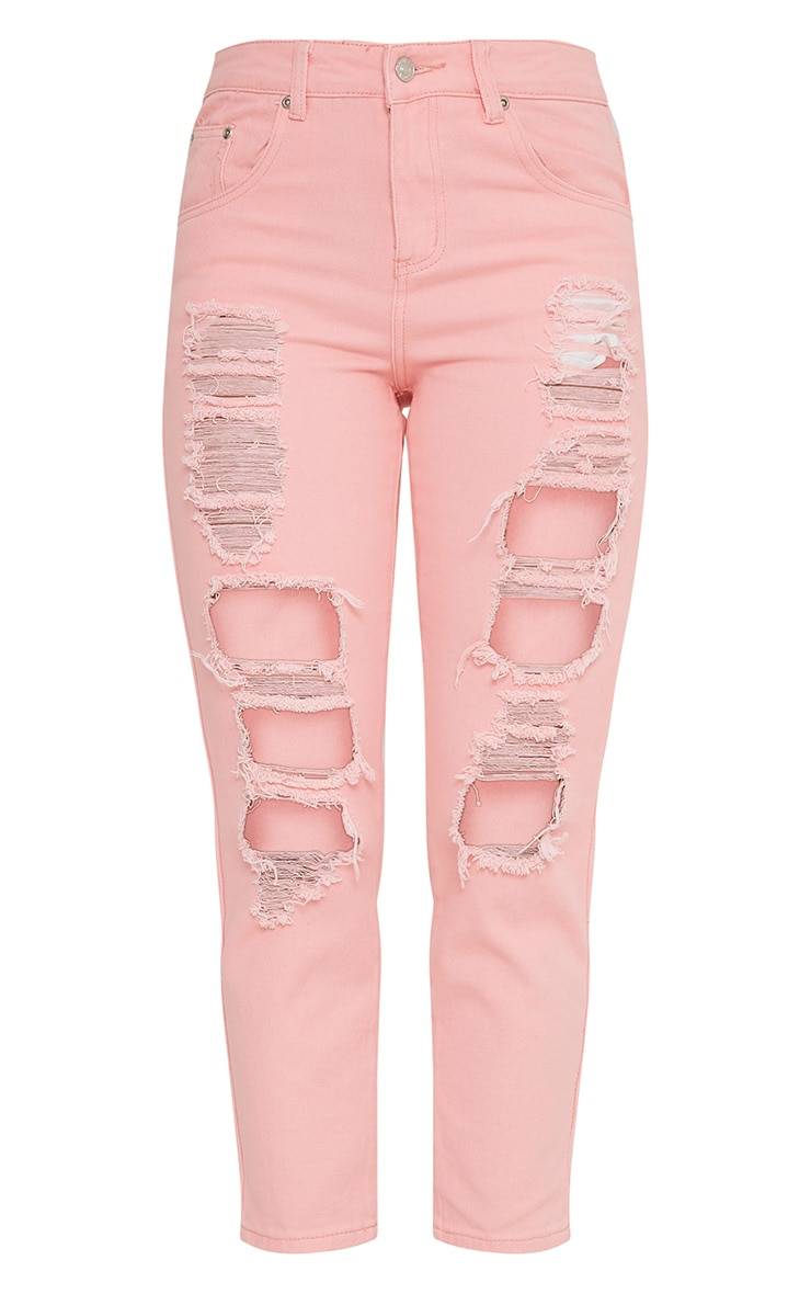 Pink Extreme Shred Mom Jean 3