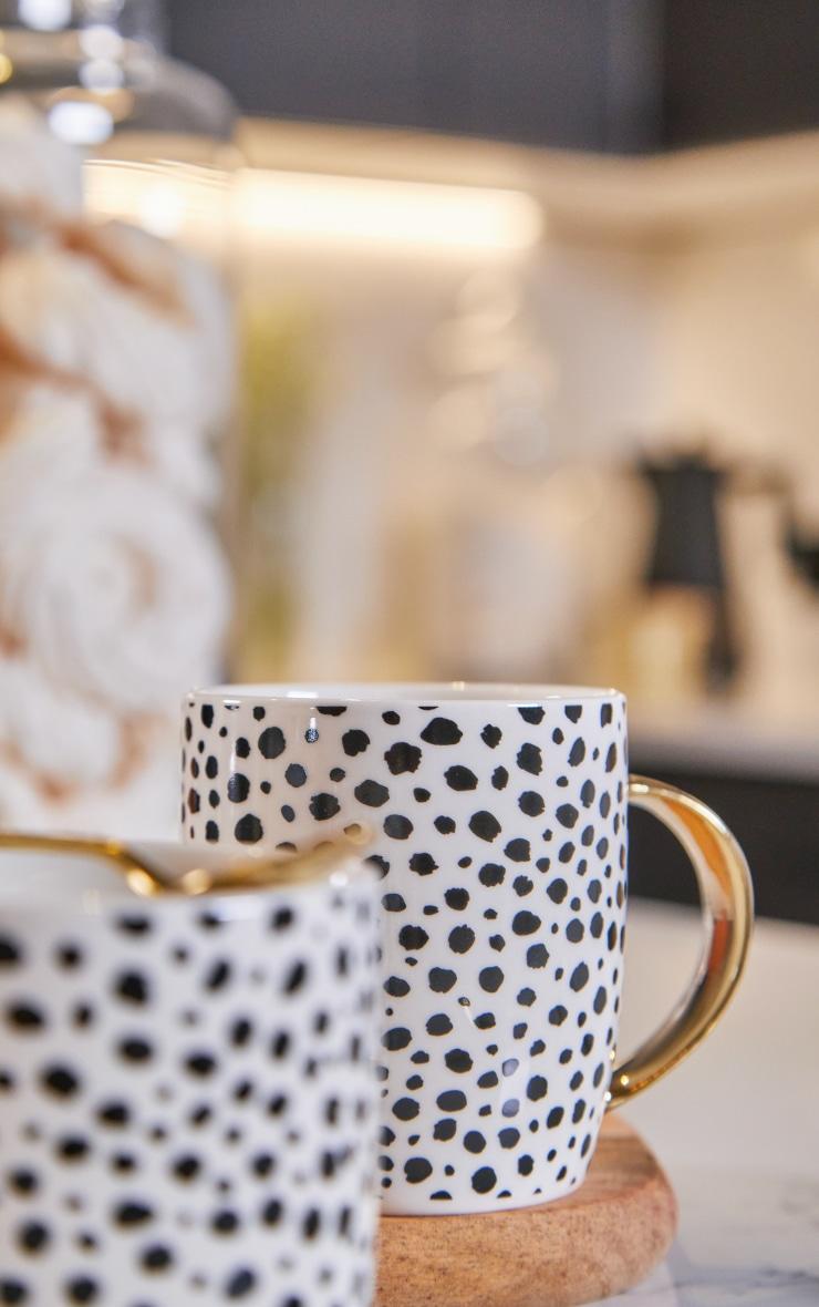 White Cheetah Print 2 Pack Mugs 2
