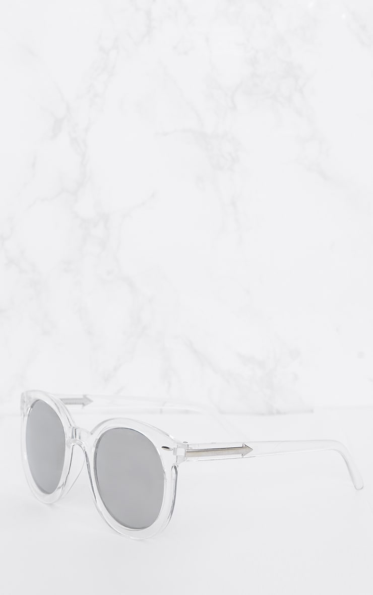 Clear Acrylic Frame Rounded Sunglasses 2