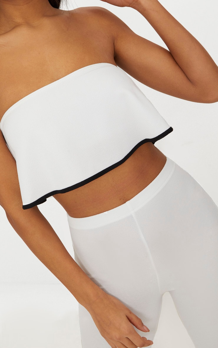 White Frill Detail Bandeau Top 5