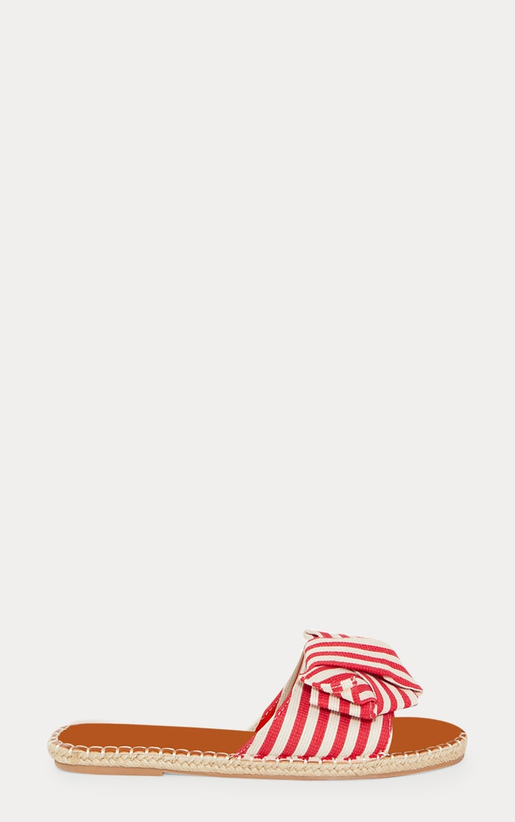 Red Stripe Knot Espadrille Mule 3