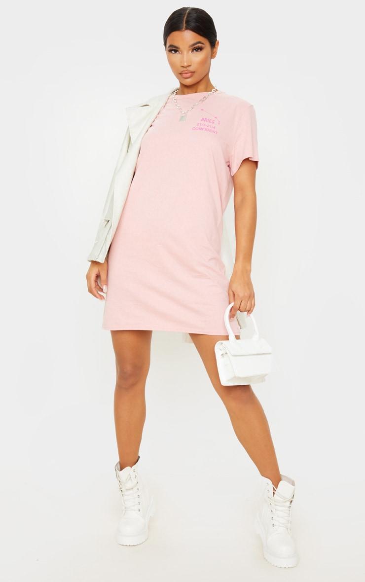 Rose Aries Definition Slogan T Shirt Dress 4