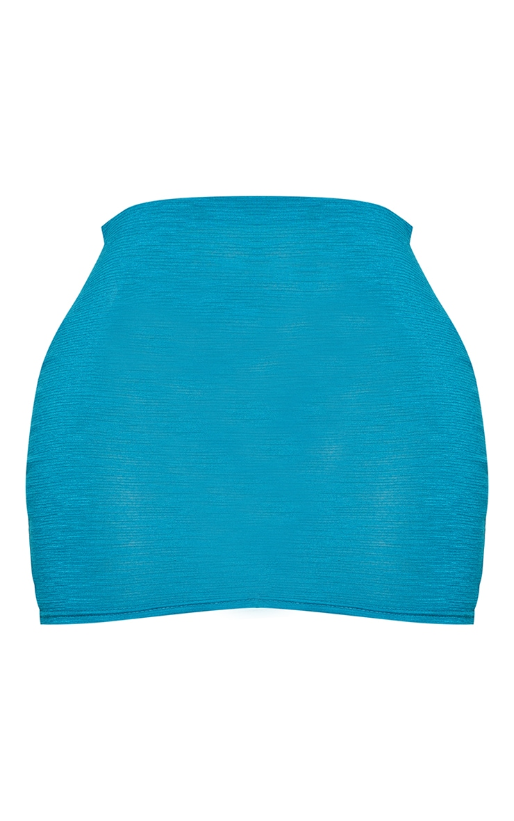 Shape Teal Burnout Jersey Bodycon Skirt 6