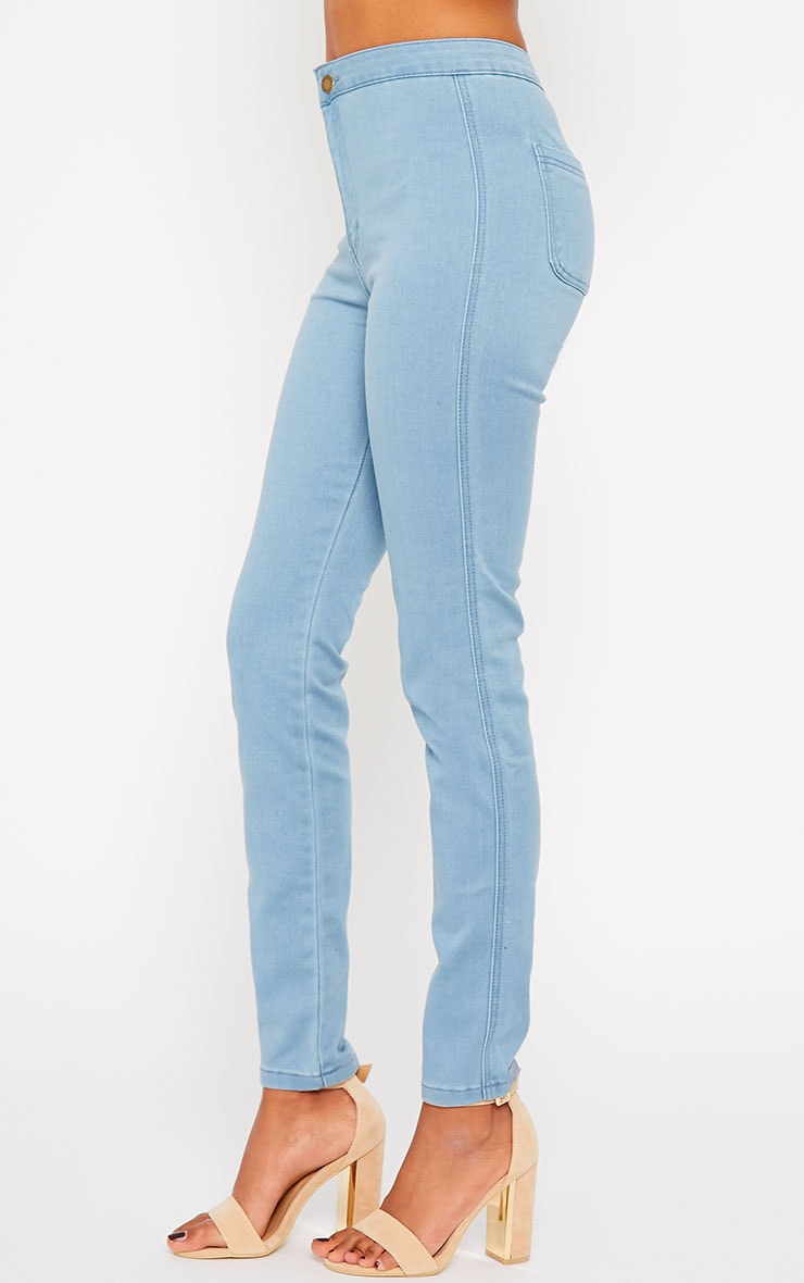 Jenna Light Blue Wash High Waist Jeans 3