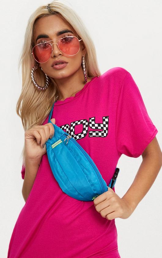 Turquoise Basic Bum Bag 1
