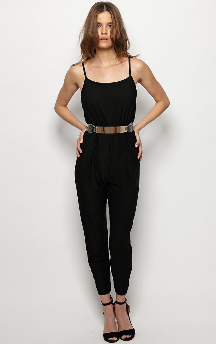 Scarlett Black Strap Detail Jumpsuit 5