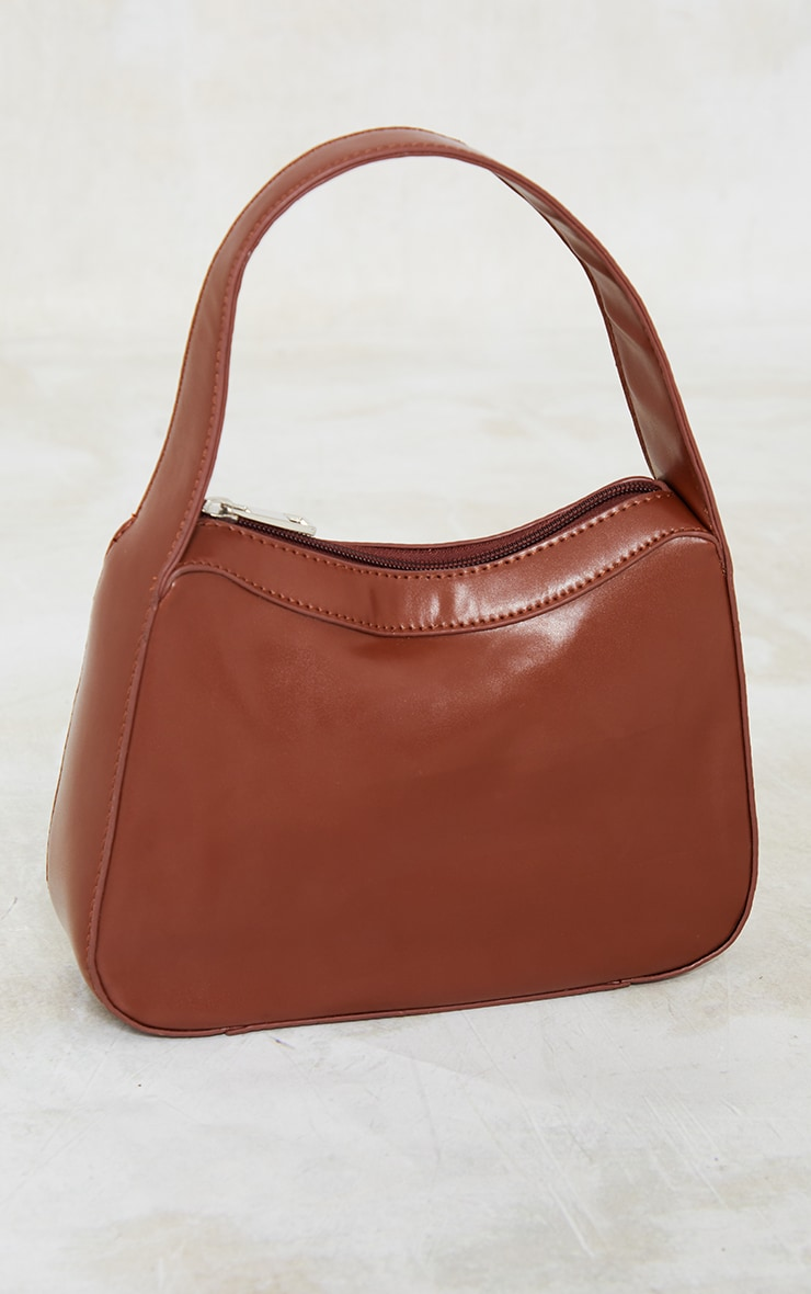 Chocolate PU Shoulder Bag 2