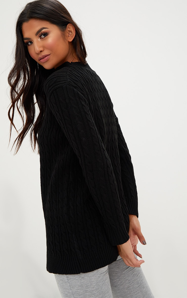 Black Choker Knitted Jumper 2