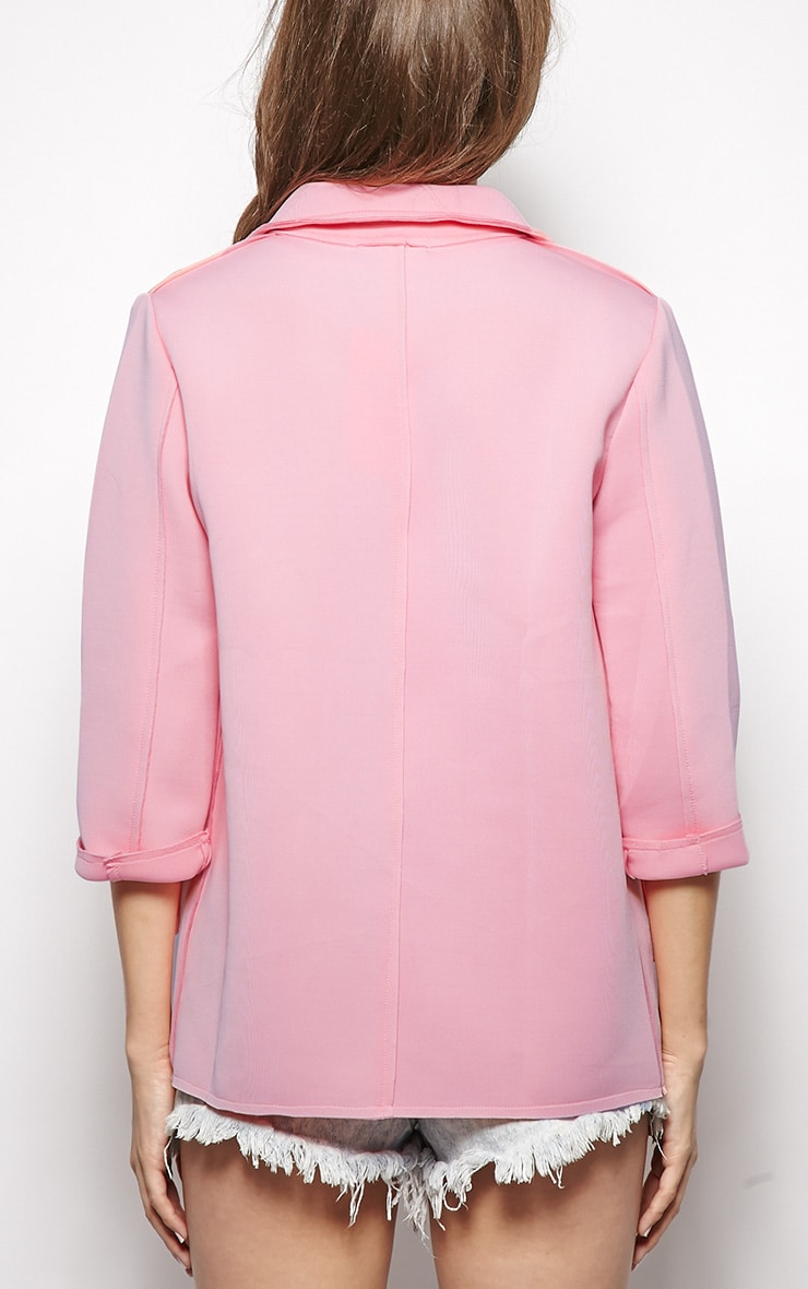 Kiara Pink Scuba Raw Edge Jacket 2