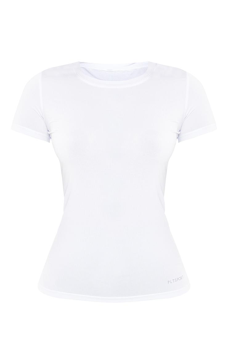 PRETTYLITTLETHING White Airtex Training T Shirt 5