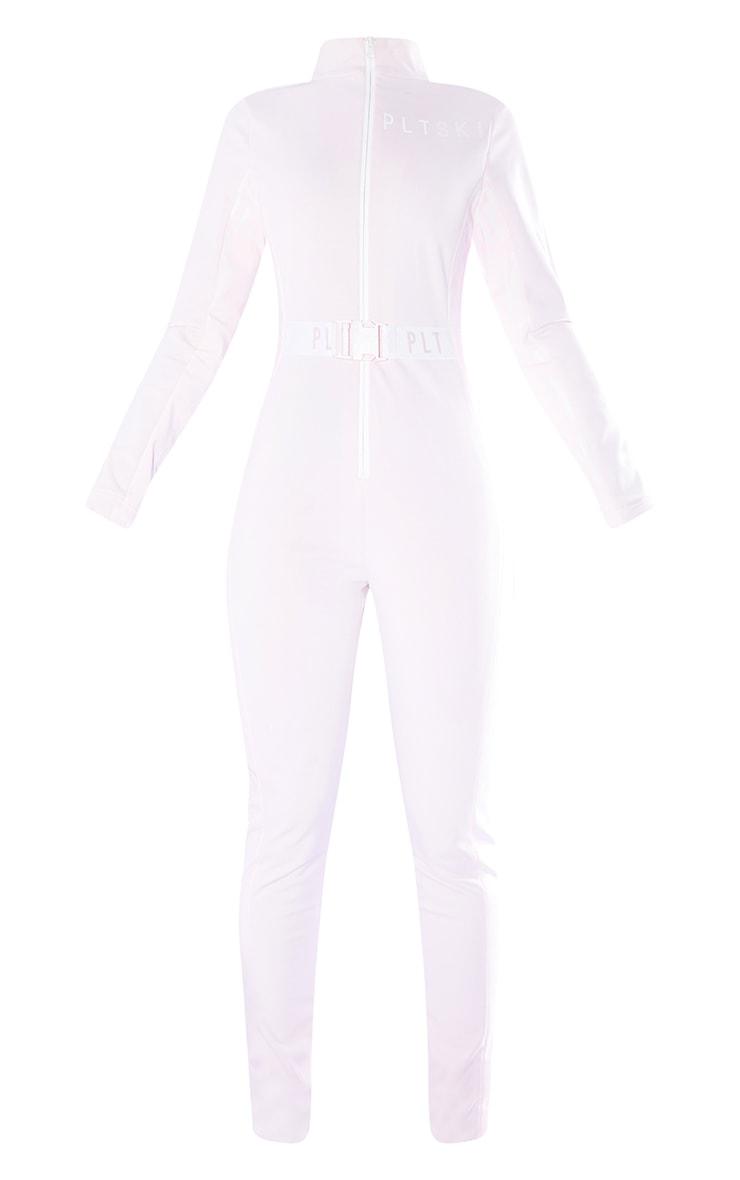 PRETTYLITTLETHING Ski Pastel Pink Print Ski Suit 5