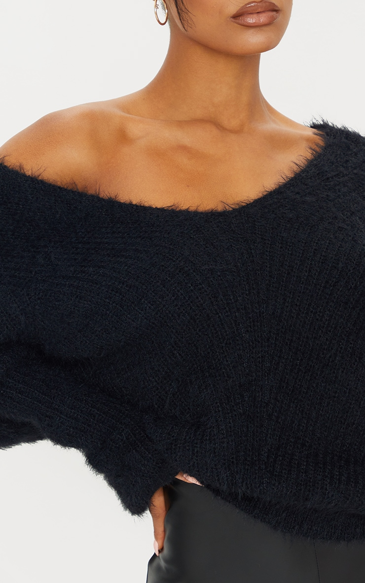 Black Eyelash Knitted Jumper 4