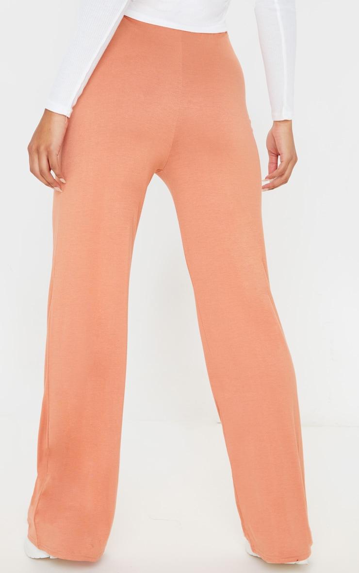 Chestnut Drawstring Jersey Wide Leg Jogger 4