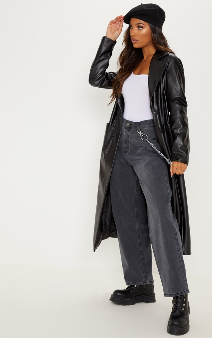 Washed Black Baggy Low Rise Boyfriend Jeans